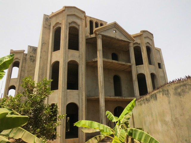 A massive unfinished 11 bedrooms storey building